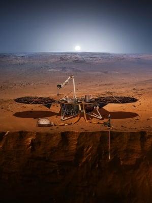 Предполагаема визия на приземяването на Марс