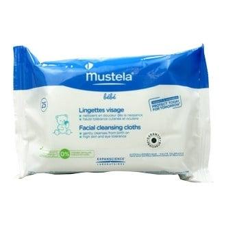 Почистващи кърпички за лице - Bebe - омекотяват и овлажняват * 25, МУСТЕЛА