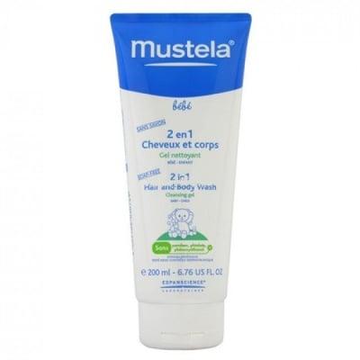 2 В 1 - измиващ гел за коса и тяло без сапун 200мл., МУСТЕЛА