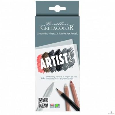 Ескизни моливи Artist Studio Line, комплект 11 бр, картонена кутия