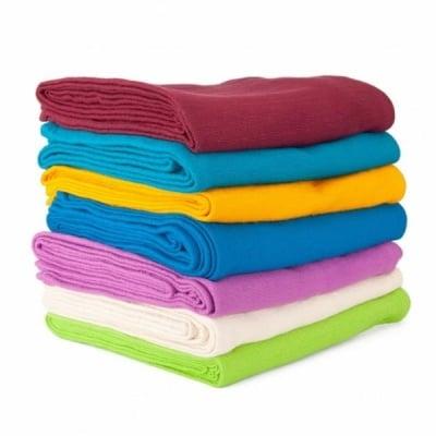 Йога одеало Shavasana със знак ОМ, 100% тъкан памук