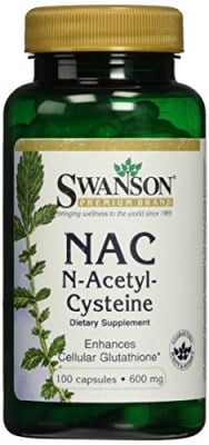 Н - АЦЕТИЛ - ЦИСТЕИН 600 мг. подпомага здравето на черния дроб * 100капс., СУОНСЪН