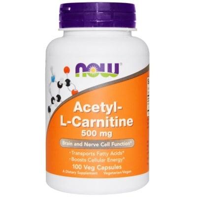 АЦЕТИЛ L - КАРНИТИН  500 мг. стимулира мисловните процеси * 100капс., НАУ ФУДС