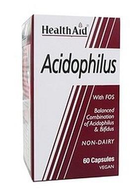 АЦИДОФИЛУС - балансира чревната флора - капсули х 60, HEALTH AID