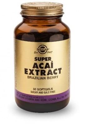 АКАЙ БЕРИ СУПЕР ЕКСТРАКТ - богат на изключително полезни за здравето вещества - капсули х 50, SOLGAR