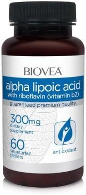 АЛФА ЛИПОЕВА КИСЕЛИНА - при цироза, интоксикация и хепатит -  таблетки 300 мг. х 60, BIOVEA