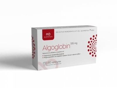 АЛГОГЛОБИН АЛФИКА - Хранителна добавка със спирулина - в подкрепа на хемоглобина *30 капсули, 335 мг, ALPHYCA