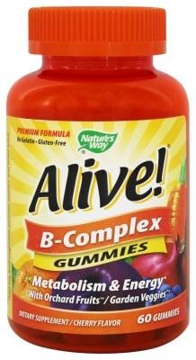 АЛАЙВ Б - КОМПЛЕКС - поддържа нормални нива на метаболизма - желирани таблетки х 60, NATURE'S WAY
