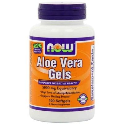 АЛОЕ ВЕРА - Намалява триглицеридите и холестерола -  дражета 5000 мг., х 100, NOW FOODS