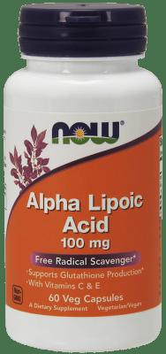 АЛФА ЛИПОЕВА КИСЕЛИНА - доставя енергия на организма, антиоксидант - капсули 100 мг. х 60, NOW FOODS