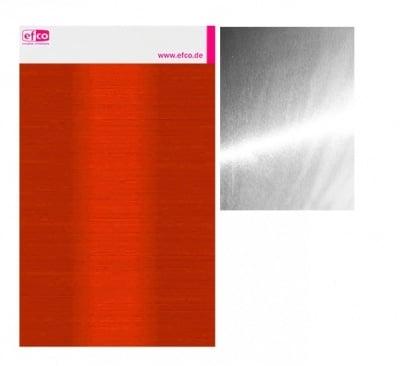 Алуминиево фолио, 20 х 30 см / 0,15 мм, 3 бр., двуцветно - червено и сребристо