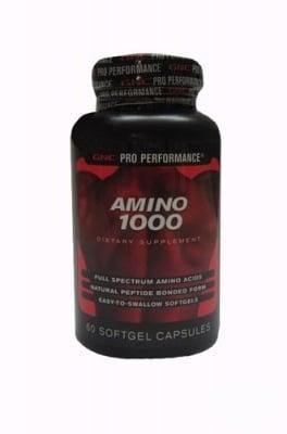 АМИНО 1000 - ускорява растежа и развитието на мускулите - капсули х 60, GNC