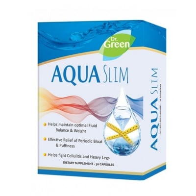 АКВА СЛИМ за борба в килограмите, балансира нивото на течностите и килограмите при хормонални промени * 30капсули