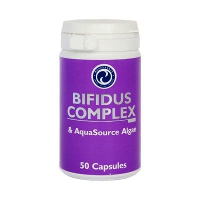 ПРОБИОТИК БИФИДУС + ВОДОРАСЛИ - подобрява храносмилането, намалява алергичните реакции към млякото - капсули х 50, АКВАСОРС