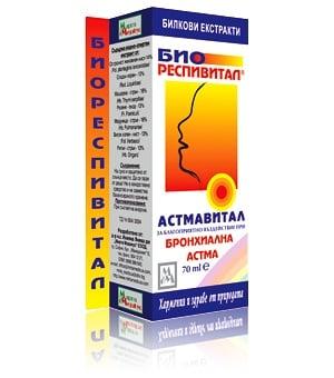 АСТМАВИТАЛ - БИОРЕСПИВИТАЛ - за по-добро функциониране на белите дробове, течна форма 70 мл., МИРТА МЕДИКУС