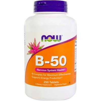 ВИТАМИН Б - 50 стимулира нервната система и мозъчната дейност * 250табл., НАУ ФУДС