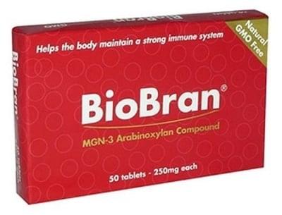 БИОБРАН - стимулира имунната система и редуцира туморните образования - таблетки 250 мг. х 50