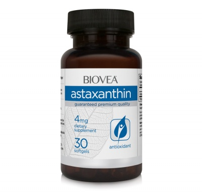 АСТАКСАНТИН - намалява мускулните и ставните болки след натоварване -  капсули 4 мг. х 30, BIOVEA