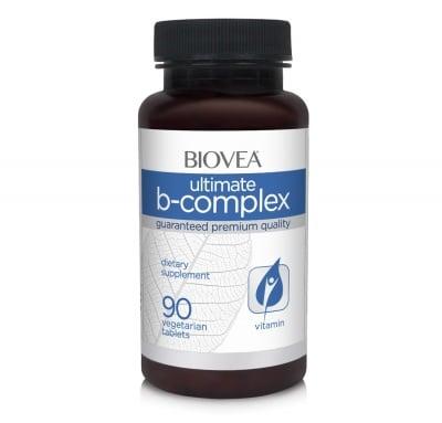 УЛТИМАТ B КОМПЛЕКС - намалява умората и стреса - таблетки х 90, BIOVEA