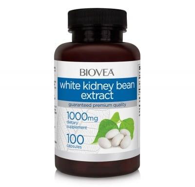 БЯЛ БОБ ЕКСТРАКТ - подпомага намаляването на теглото - капсули 1000 мг. х 100, BIOVEA