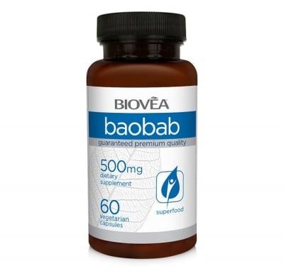 БАОБАБ -  антиоксидант, подобрява храносмилането, дава енергия - капсули 500 мг. х 60, BIOVEA