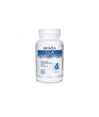 КЛА - подпомага загубата на мазнини и изграждането на мазнини -  капсули 1000 мг. х 60, BIOVEA