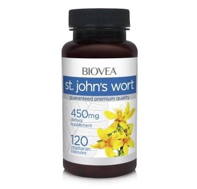 ЖЪЛТ КАНТАРИОН - облекчава симптоми свързани с лека или умерена депресия - капсули 450 мг. х 120, BIOVEA
