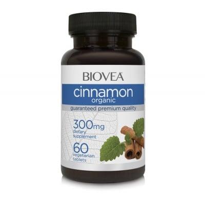 КАНЕЛА -  поддържа здравословни нива на холестерола - таблетки 300 мг. х 60, BIOVEA
