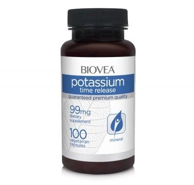 ПОТАСИУМ TR - подкрепя щитовидна жлеза и бъбреците, предпазва от загуба на костна маса - капсули 99 мг. х 100, BIOVEA