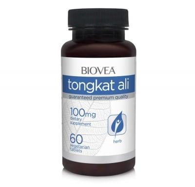 ТОНГКАТ АЛИ - подобрява хормоналния баланс при мъжете - таблетки 100 мг. х 60, BIOVEA
