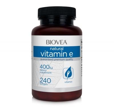 ВИТАМИН Е - Силен антиоксидант - капсули 400 iu х 60, BIOVEA