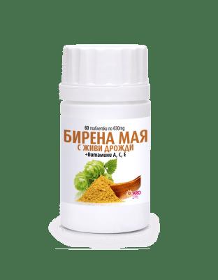 БИРЕНА МАЯ 630 мг. за нормализиране състоянието на кожата, косата и ноктите * 60таблетки, АРО ЛАЙФ