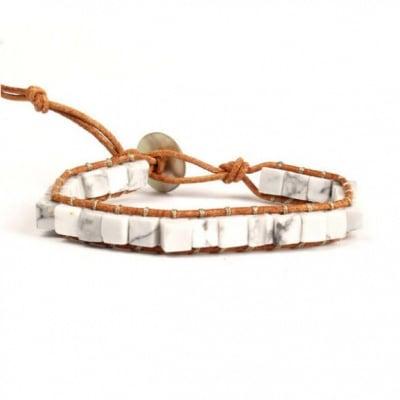Бохо гривна Кубчета с естествени камъни, Зен Лайф
