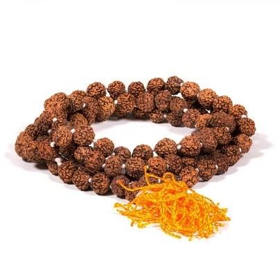 Будистка молитвена броеница Рудракша мала - рудракша семена 10 мм.