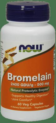 БРОМЕЛАИН - подпомага оздравителните процеси - таблетки 500 мг. х 60, NOW FOODS