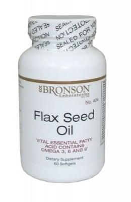 ЛЕНЕНО МАСЛО + ОМЕГА 3-6-9 - подобрява общото здраве - капсули 60 мг. х 100, BRONSON