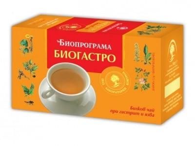 ЧАЙ БИОГАСТРО - 20 броя филтърни пакетчета, БИОПРОГРАМА