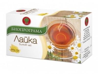 ЧАЙ ЛАЙКА - 20 броя филтърни пакетчета, БИОПРОГРАМА
