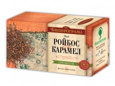 ЧАЙ РОЙБОС КАРАМЕЛ - 20 броя филтърни пакетчета, БИОПРОГРМА
