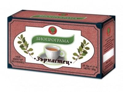 ЧАЙ ЗЪРНАСТЕЦ - 20 броя филтърни пакетчета, БИОПРОГРАМА