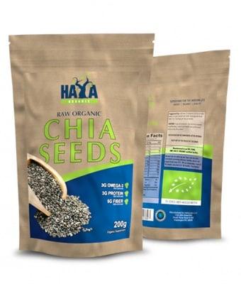 ЧИА СЕМЕНА най-богатия източник на омега-3 мастни киселини от растителен произход 200 гр.
