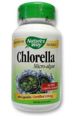 ХЛОРЕЛА - супер храна и силен имуностимулант - капсули 410 мг. х 100, NATURE'S WAY