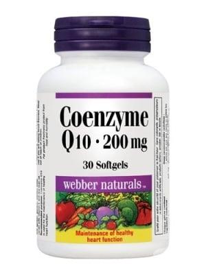 КОЕНЗИМ Q10 - възстановява енергията в организма, повлиява положително множество функции - капсули 200 мг. х 30, WABBER NATURALS