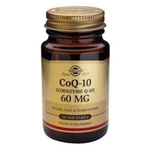 КОЕНЗИМ Q10 60 мг. помага за производството на енергия * 30капсули, СОЛГАР