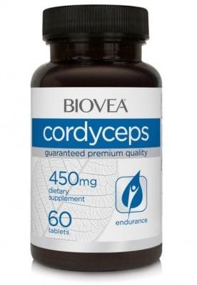 КОРДИЦЕПС - носи енергия и премахва стреса - таблетки 450 мг. х 60, BIOVEA