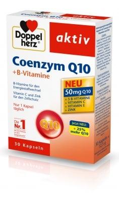 ДОПЕЛХЕРЦ АКТИВ Коензин Q10 + Витамин В - капсули х 30, QUEISSER