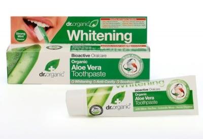 ИЗБЕЛВАЩА ПАСТА ЗА ЗЪБИ С АЛОЕ ВЕРА при чувствителни зъби и венци - 100 мл., DR. ORGANIC