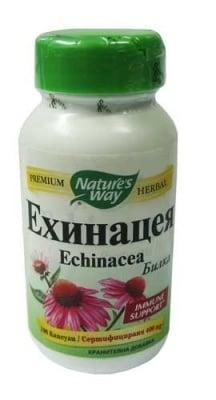 ЕХИНАЦЕЯ - природен антибиотик, който укрепва имунната система - капсули 400 мг. х 100, NATURE'S WAY