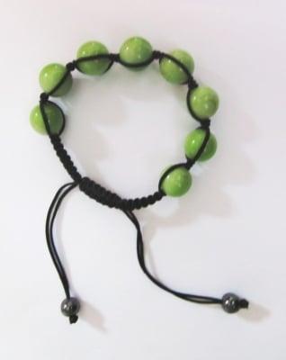 ГРИВНА ШАМБАЛА - с цветни топчета и естествен камък Хематит, ЕМ АРТ