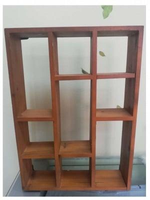Етажерка дървена 420x300x75 мм тъмно дърво